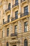 Art Nouveau Style Architecture (Jugendstil) Designed by Mikhail Eisenstein  Riga  Latvia  Europe