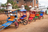 Colourful Rickshaws Line the Alleyways of Antsirabe  Madagascar  Africa