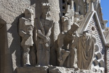 Tableaux in Carved Stone Near the Entrance to Sagrada Familia  Barcelona  Catalunya  Spain  Europe