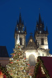 Christmas Tree and Tyn Gothic Church