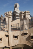 Group of Grotesque Chimneys on the Roof of La Pedrera (Casa Mila)