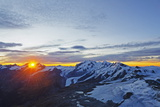 Sunrise View of Monte Rosa from the Matterhorn  Zermatt  Valais  Swiss Alps  Switzerland  Europe