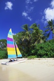 Man Lying on His Sailing Boat at St James Beach  Barbados  Caribbean