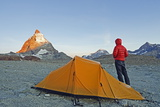 Camping Near the Matterhorn  4478M  Zermatt  Valais  Swiss Alps  Switzerland  Europe