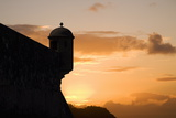 Sunset  Fort San Felipe  Puerto Plata  Dominican Republic  West Indies  Caribbean  Central America