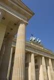 The Brandenburg Gate with the Quadriga Winged Victory Statue on Top