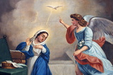 Annunciation Painting in Nossra Senhora Da Conceicao Church