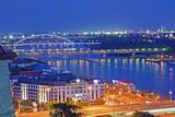Apollo Most Bridge  Danube River  Bratislava  Slovakia  Europe