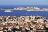 Views of Chateau D'If and Frioul Island  Marseille  Provence  France