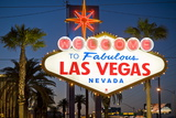 Las Vegas Sign at Night  Nevada  United States of America  North America