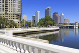 Tampa Skyline and Linear Park  Tampa  Florida  United States of America  North America