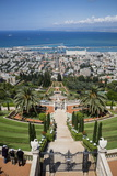 View over the Bahai Gardens  Haifa  Israel  Middle East