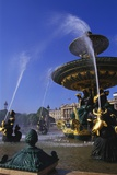 Elevation of the Maritime Fountain and Hotel De Crillon  Place De La Concorde  Paris  France