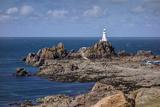 Corbiere Lighthouse and Rocky Coastline  Jersey  Channel Islands  United Kingdom  Europe