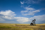 Oil Rig in the Savannah of Wyoming  United States of America  North America