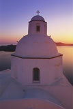 Orthodox Church at Sunset  Thira  Santorini  Cyclades  Greece