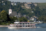 River Rhine Tourist Cruiser Passes in Front of St Goar