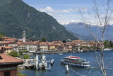 Lake Tourist Boat Arriving  Bellagio  Lake Como  Italian Lakes  Lombardy  Italy  Europe