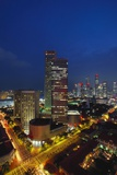 Raffles Hotel at Night and Skyline  Singapore  Asia