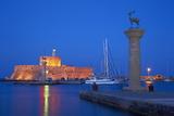 Mandraki Harbour  Rhodes City  Rhodes  Dodecanese  Greek Islands  Greece  Europe