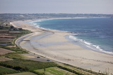 Beaches on St Ouen's Bay  Jersey  Channel Islands  United Kingdom  Europe
