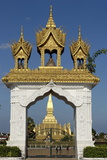 That Luang Stupa  Built in 1566 by King Setthathirat  Vientiane
