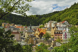 Historic Spa Section of Karlovy Vary  Bohemia  Czech Republic  Europe