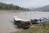 Mekong River  Near Luang Prabang  Laos