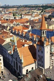 Altes Rathaus with a Rooftop View over Munich  Bavaria  Germany