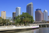 Tampa Skyline and Hillsborough River  Tampa  Florida  United States of America  North America
