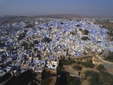 Aerial View of Blue Houses for the Bhrahman  Jodhpur  Rajasthan  India