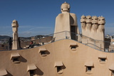 Group of Four Grotesque Chimneys on the Roof of La Pedrera (Casa Mila)