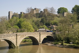 River Severn and Ludlow Castle  Shropshire  England  United Kingdom  Europe