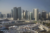 Futuristic Skyscrapers Downtown in Doha  Qatar  Middle East