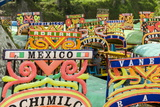 Colourful Boats at the Floating Gardens in Xochimilco