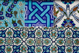 Decorative Ceramic Tiles  Cavalry Bazaar  Istanbul  Turkey  Western Asia
