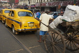 Rickshaw on the Street  Kolkata  West Bengal  India  Asia