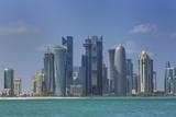 Futuristic Skyscrapers in Doha  Qatar  Middle East