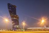 Futuristic Skyscraper in Abu Dhabi  United Arab Emirates  Middle East
