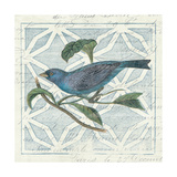 Monument Etching Tile II Blue Bird