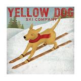 Yellow Dog Ski Co Giclée premium par Ryan Fowler