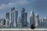 Futuristic Skyscrapers in Doha  Qatar  Middle East