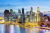 Elevated View over Singapore City Centre and Marina Bay  Singapore  Southeast Asia  Asia