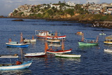 Fishing Boats at Sea During Lemanja Festival on Rio Vermelho Beach