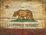 California Flag Vintage Wood Sign