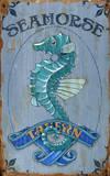 Seahorse Tavern Vintage Wood Sign