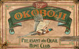 The Okoboji Hunt Club Vintage Wood Sign