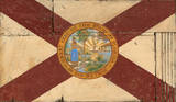Florida Flag Vintage Wood Sign