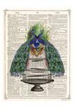 Peacocks Cage 1 Reproduction d'art par Tina Carlson