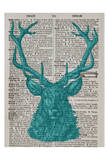 Blue Stag Reproduction d'art par Tina Carlson